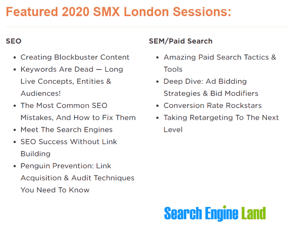 Search Engine Marketing Expo London 2020
